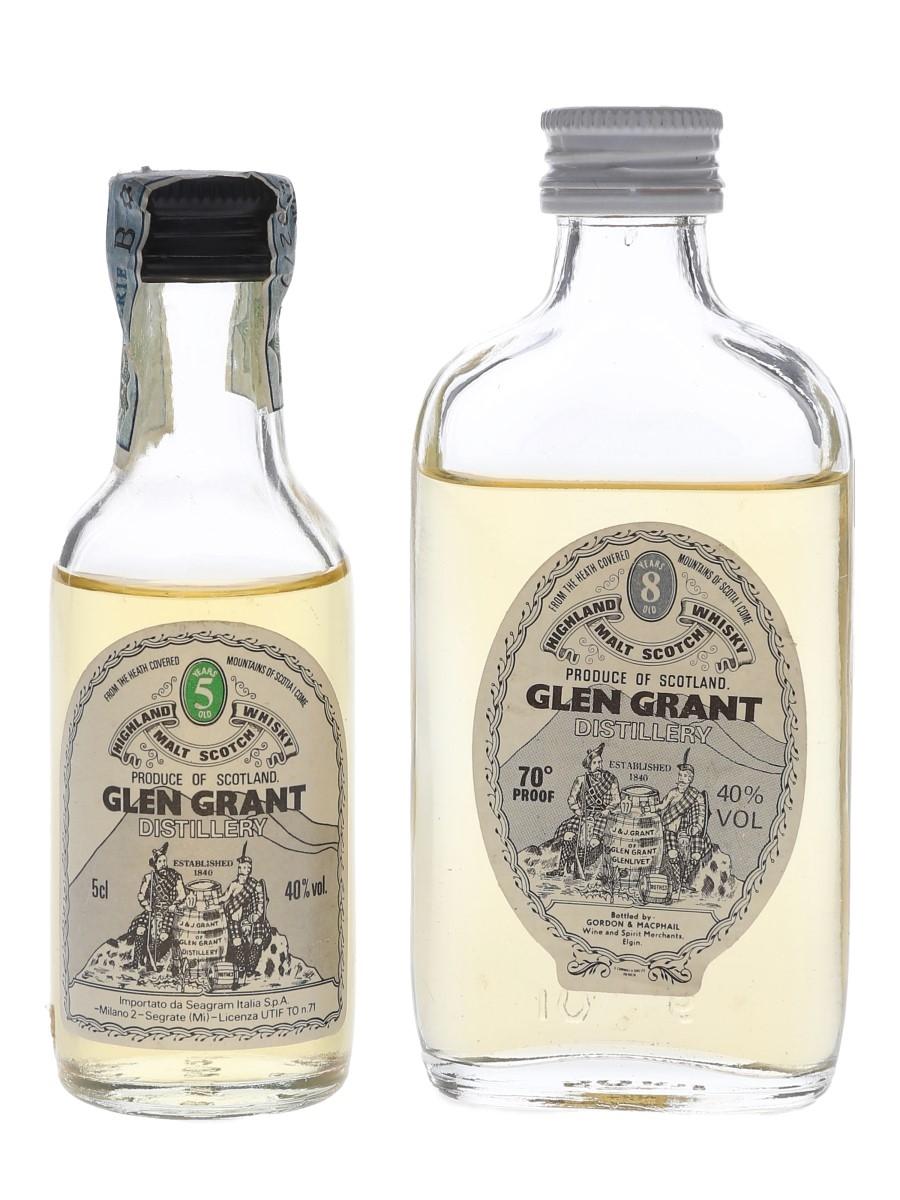 Glen Grant 5 & 8 Year Old Bottled 1970s-1980s 2 x 5cl / 40%