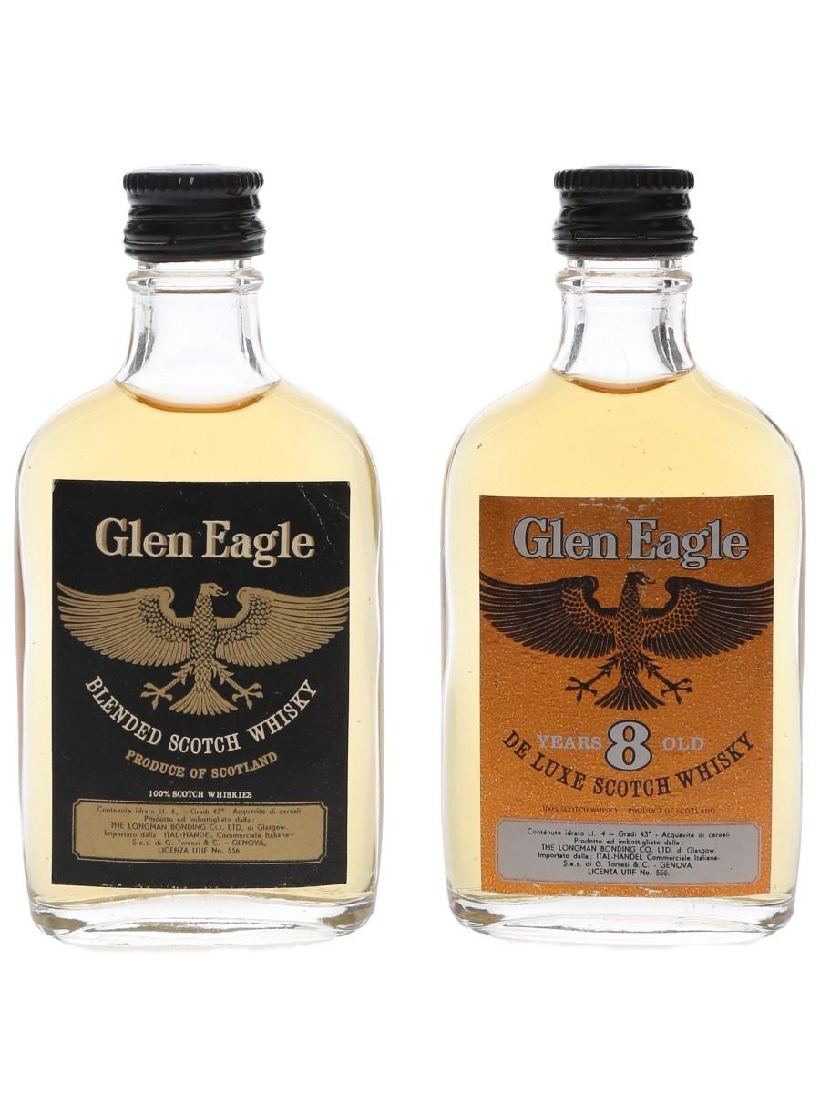 Glen Eagle Bottled 1960s - Italian Import 2 x 4cl / 43%