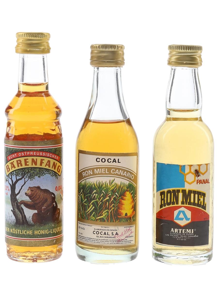Artemi, Barenfang, Cocal Honey Liqueurs  3 x 4cl-5cl
