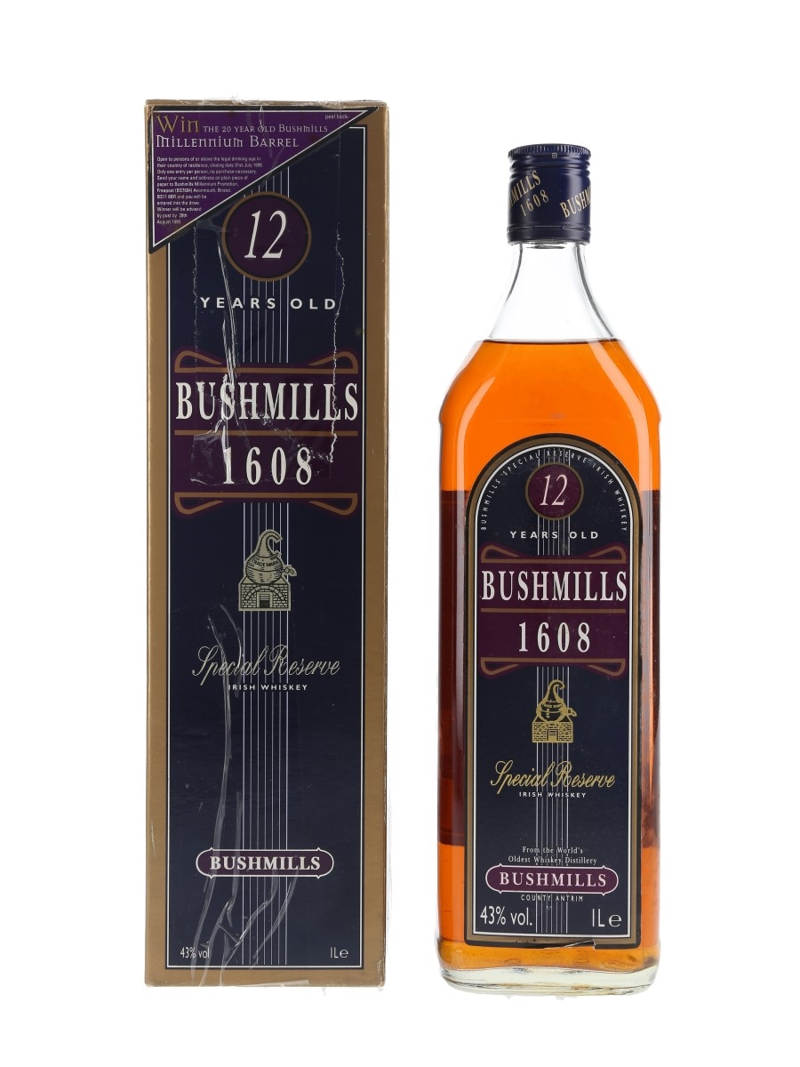Bushmills 1608 Special Reserve 12 Year Old 100cl / 43%