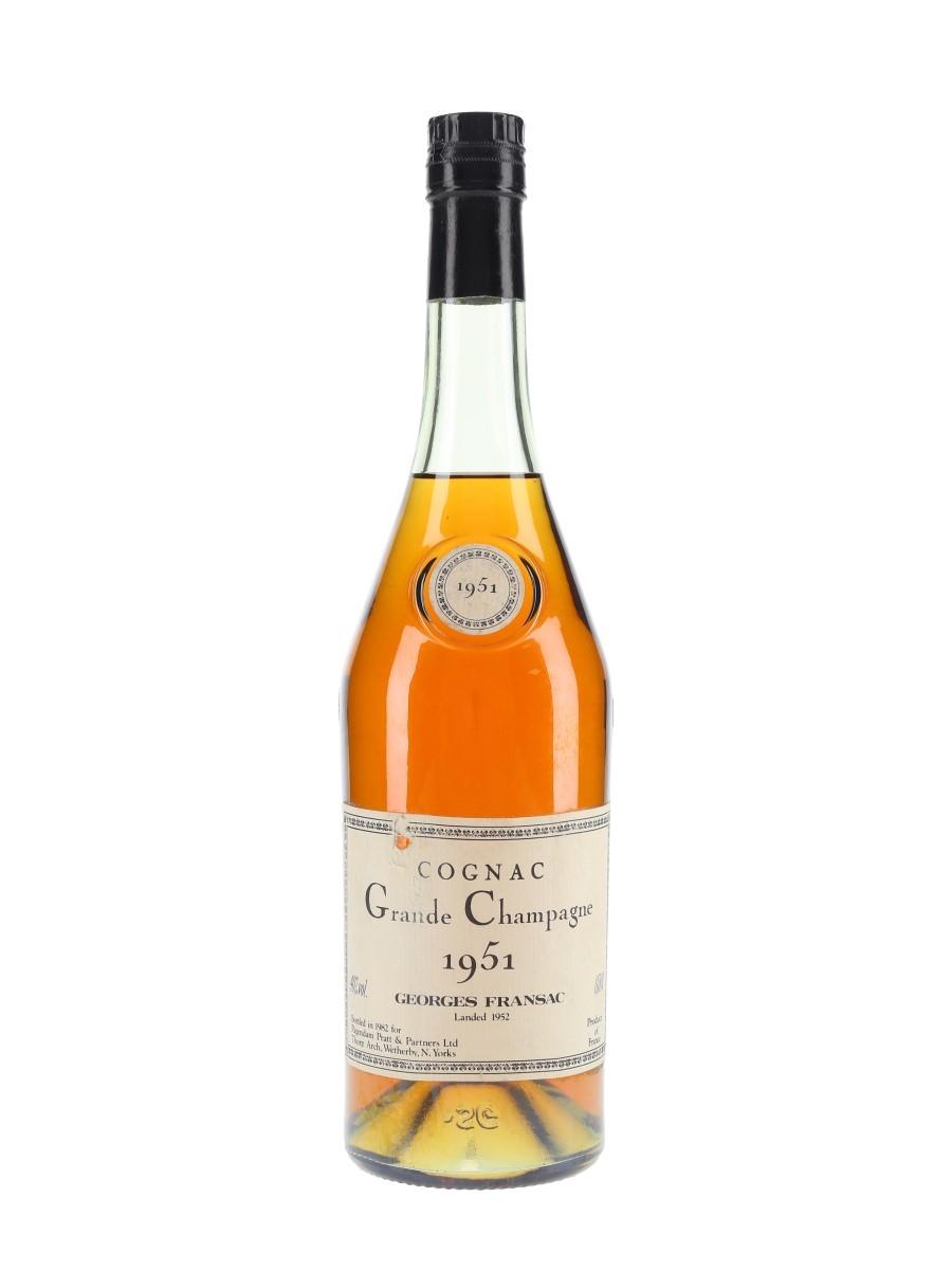 Georges Fransac 1951 Grande Champagne Cognac Bottled 1982 - Pagendam Pratt & Partners Ltd. 70cl / 40%