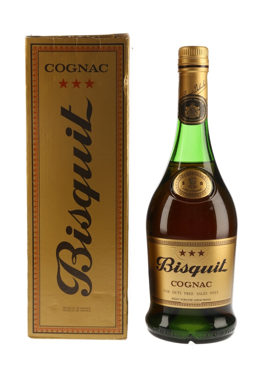 Bisquit 3 Star Bottled 1980s - Duty Free 70cl