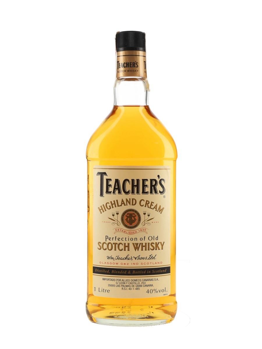 Teacher's Highland Cream Bottled 1990s - Pedro Domecq 100cl / 40%