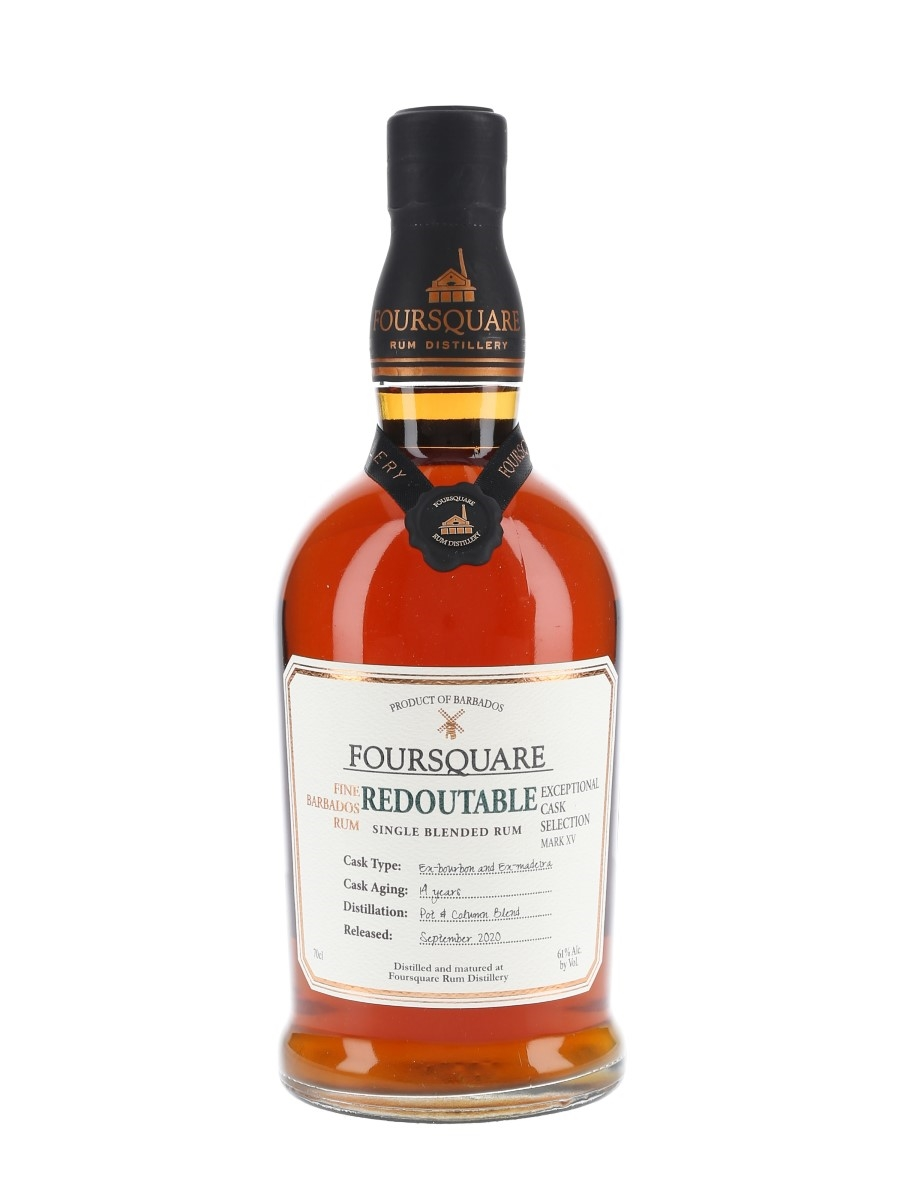Foursquare Redoutable 14 Year Old Single Blended Rum Bottled 2020 - Exceptional Cask Selection Mark XV 70cl / 61%