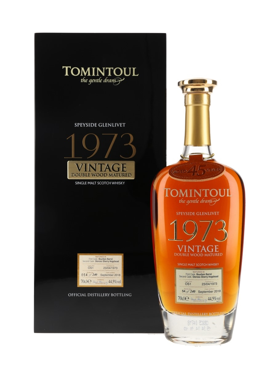 Tomintoul 1973 45 Year Old Double Wood Matured Bottled 2018 70cl / 44.5%