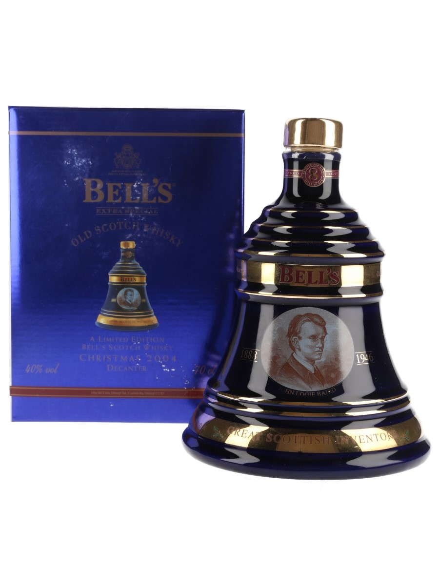 Bell's Christmas 2004 Ceramic Decanter 8 Year Old - John Logie Baird 70cl / 40%