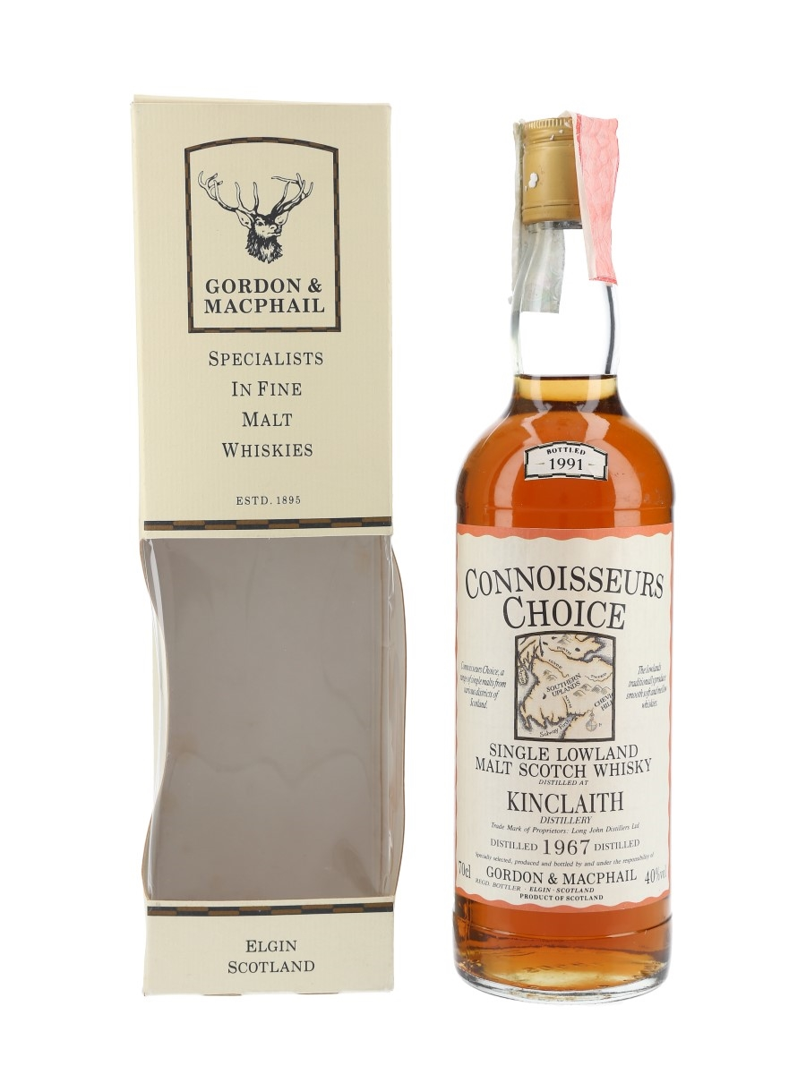 Kinclaith 1967 Connoisseurs Choice Bottled 1991 - Gordon & MacPhail 70cl / 40%