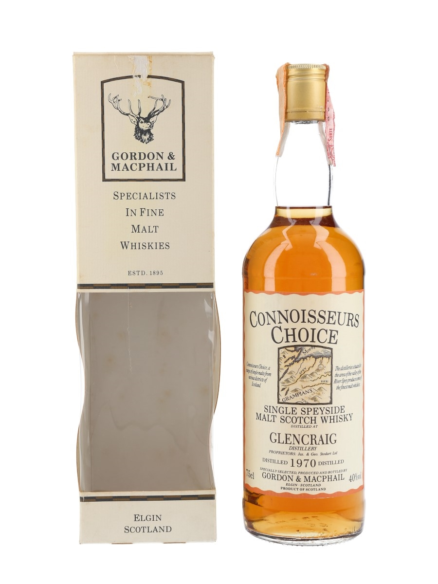 Glencraig 1970 Connoisseurs Choice Bottled 1987 - Gordon & MacPhail 75cl / 40%