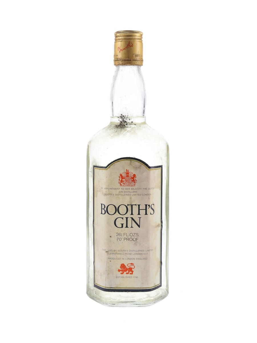 Booth's Gin Bottled 1970s 75.7cl / 40%