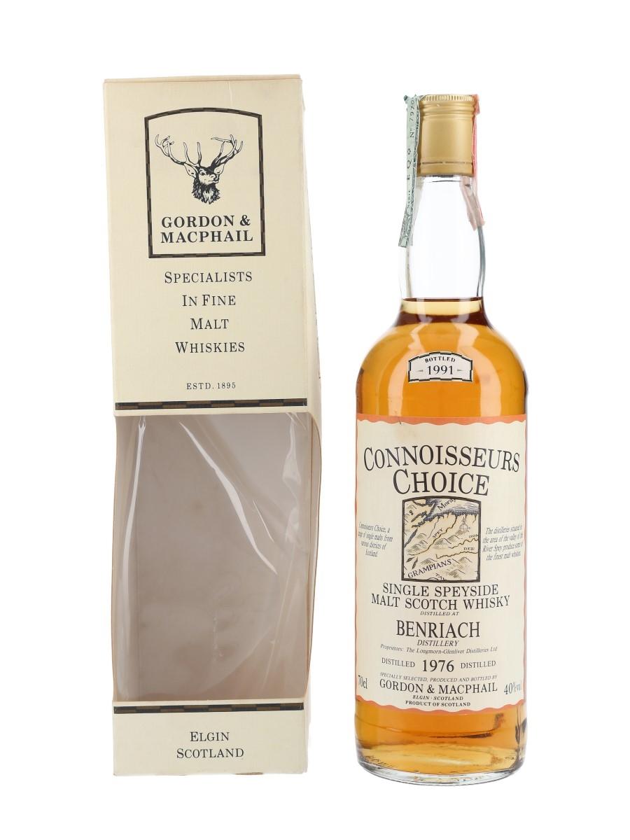 Benriach 1976 Connoisseurs Choice Bottled 1991 - Gordon & MacPhail 70cl / 40%