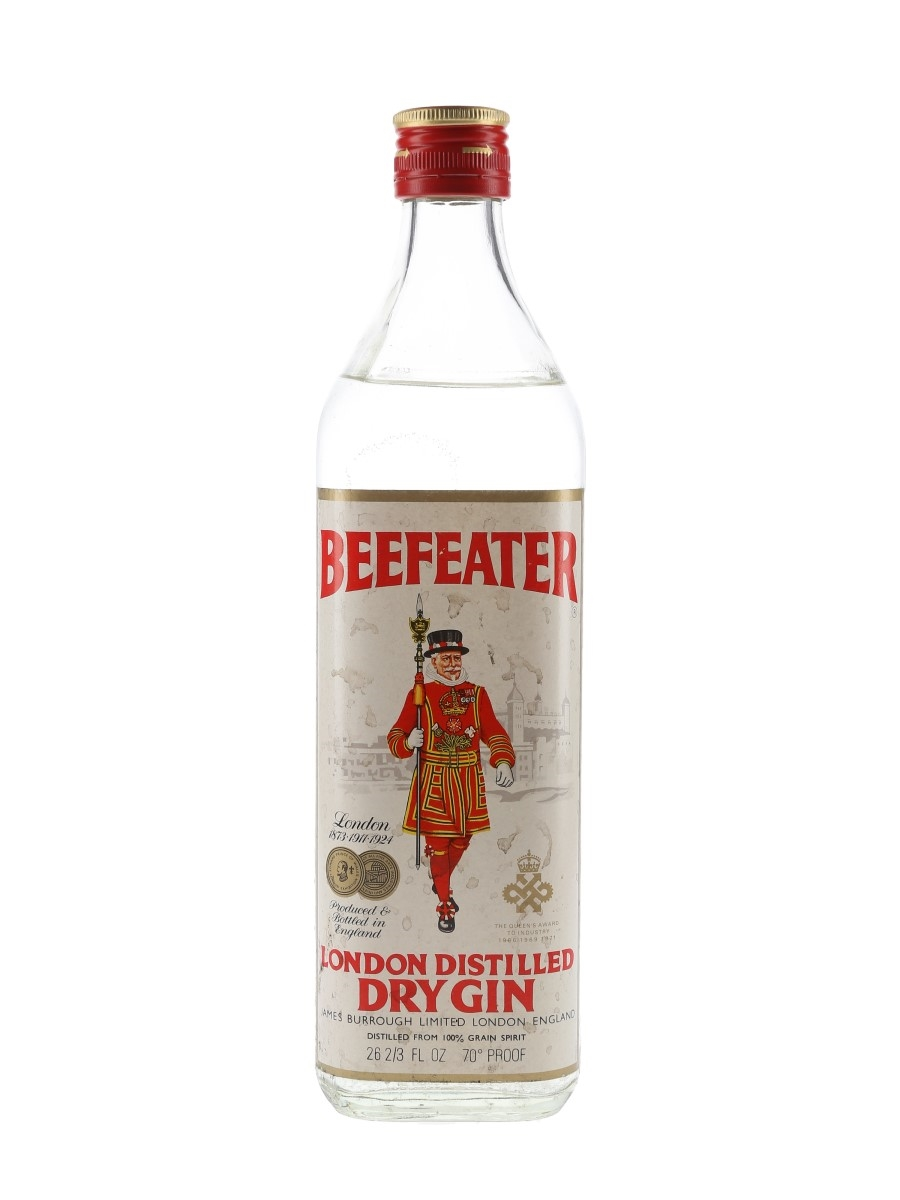 Beefeater London Distilled Dry Gin Bottled 1970s 75.7cl / 40%