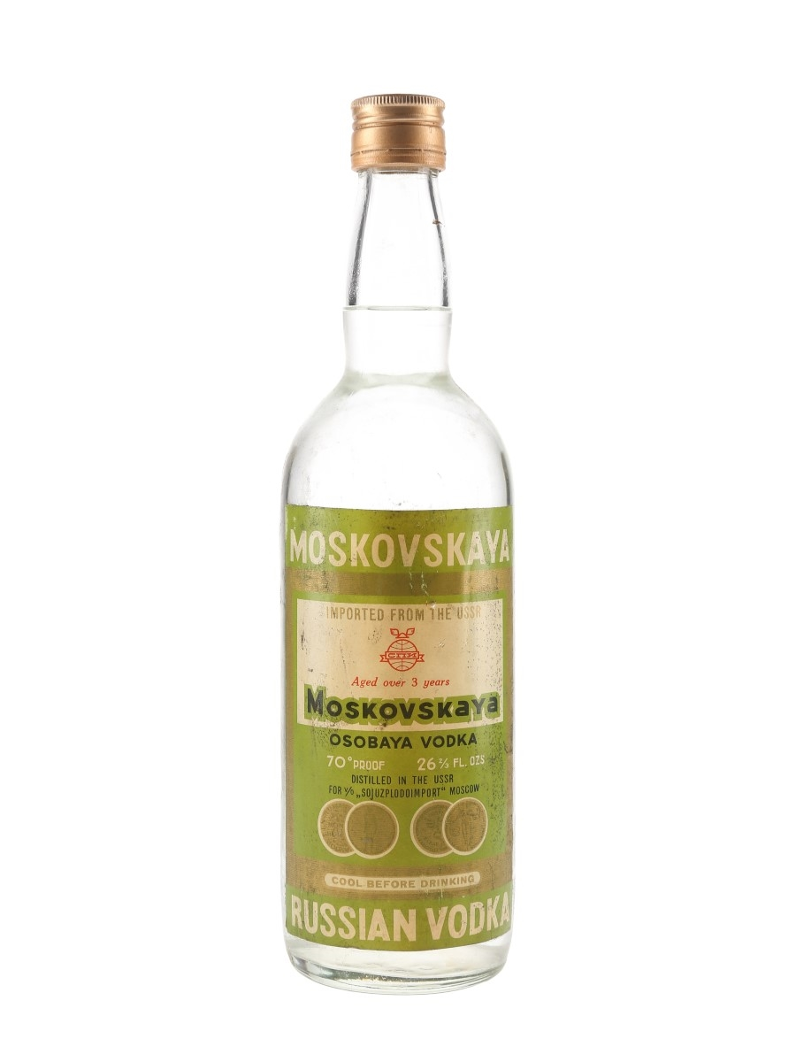 Moskovskaya Russian Vodka 3 Year Old Bottled 1960s 75.7cl / 40%