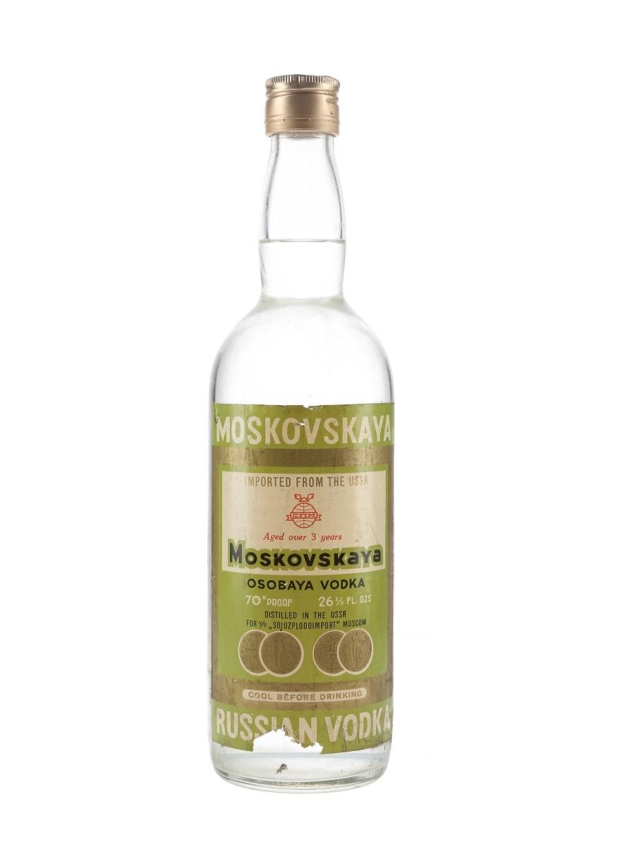 Moskovskaya Russian Vodka 3 Year Old Bottled 1960s 75.7cl / 40%
