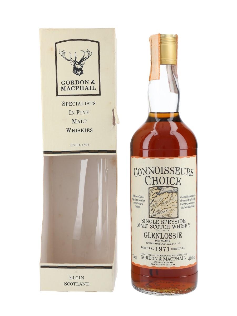 Glenlossie 1971 Connoisseurs Choice Bottled 1980s - Gordon & MacPhail 75cl / 40%