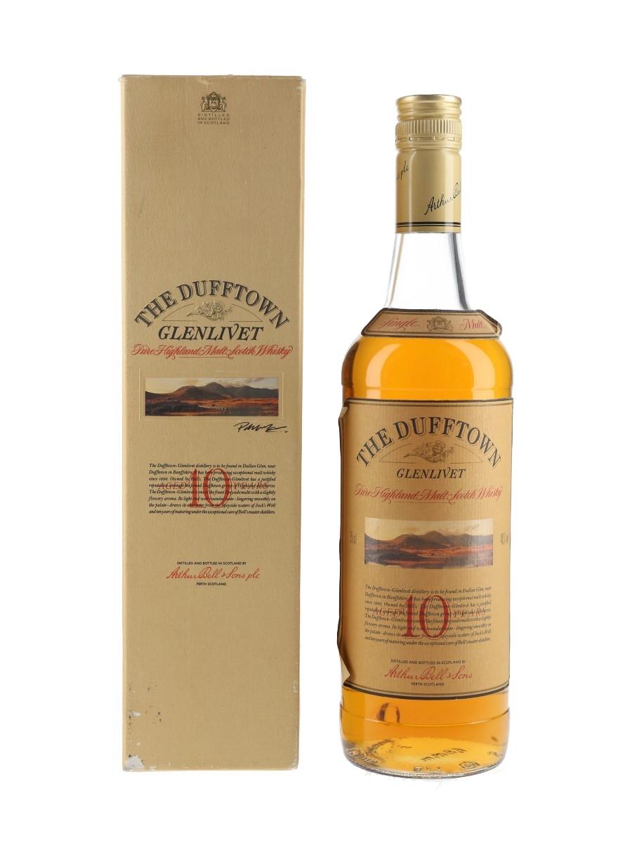 Dufftown Glenlivet 10 Year Old Bottled 1980s 75cl / 40%