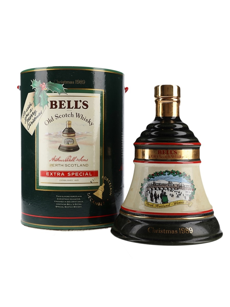 Bell's Christmas 1989 Ceramic Decanter Perth Winter 1895 70cl / 43%