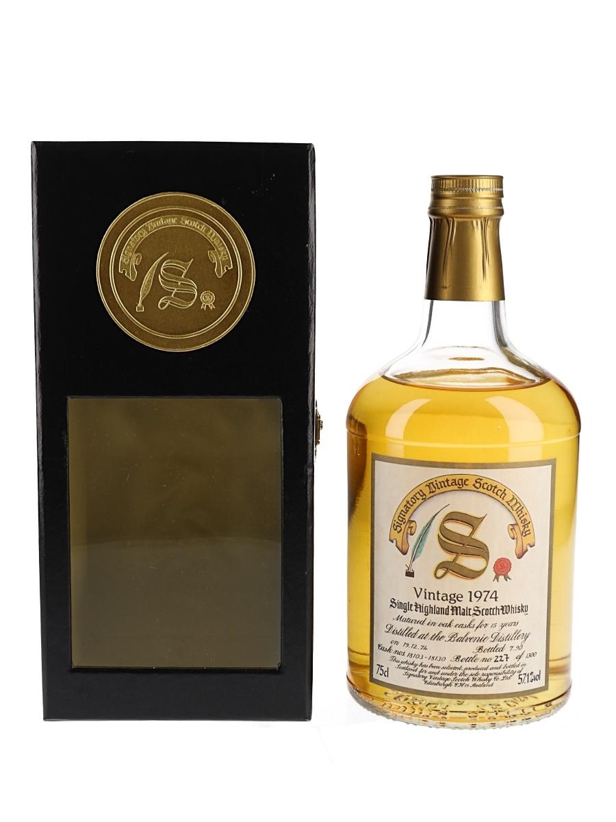 Balvenie 1974 15 Year Old Bottled 1990 - Signatory Vintage 75cl / 57.1%