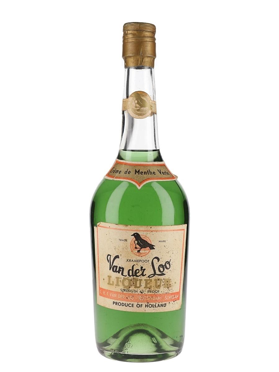 Van Der Loo Creme De Menthe Verte Bottled 1960s-1970s 75cl / 24.5%