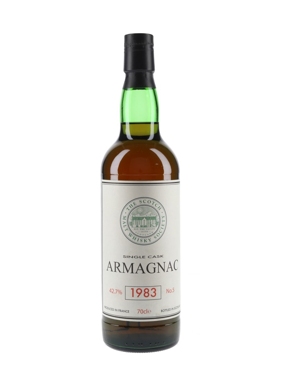 SMWS 1983 Single Cask Armagnac No.5 Chateau De Laubade 70cl / 42.7%