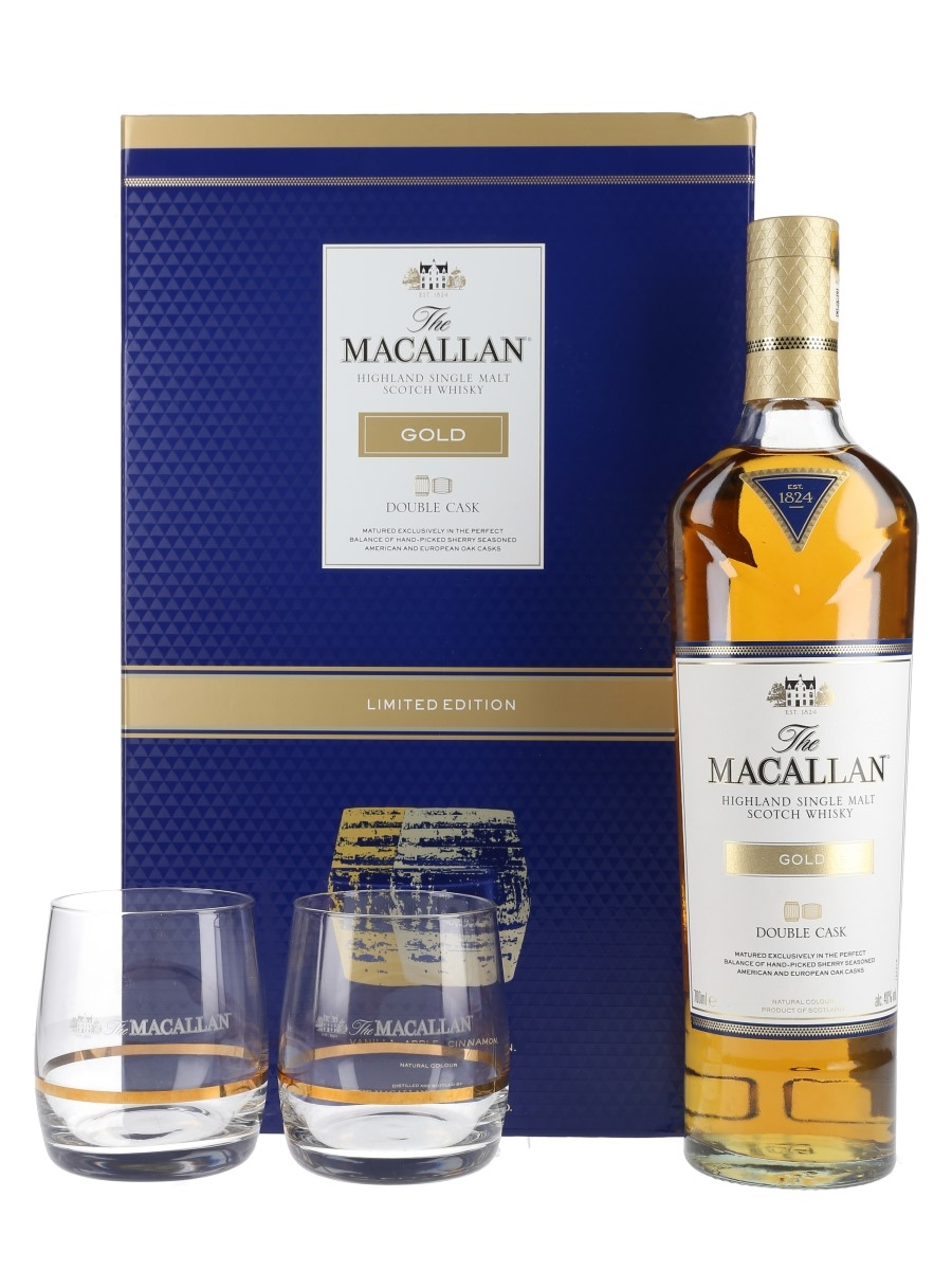 Macallan Gold Double Cask Glass Pack Limited Edition 70cl / 40%