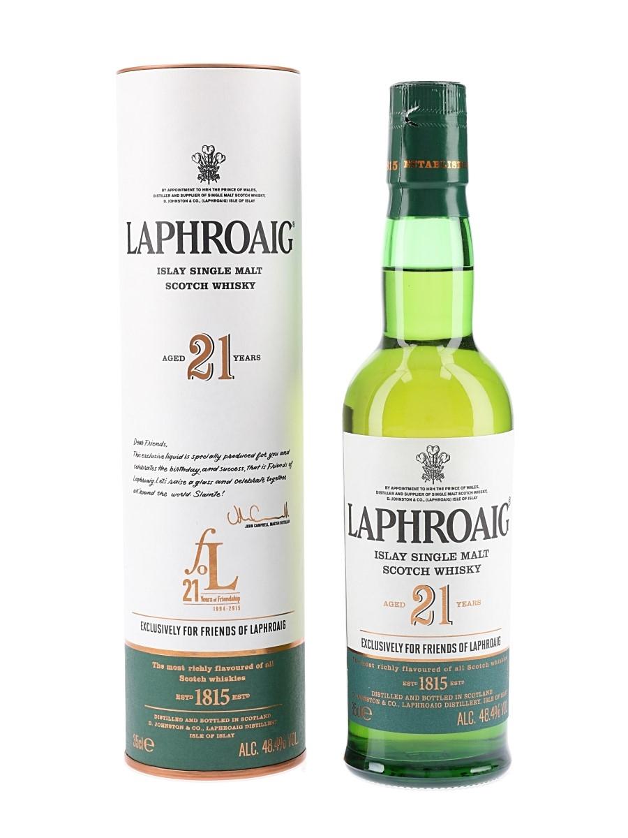 Laphroaig 21 Year Old Friends Of Laphroaig 21st Anniversary 35cl / 48.4%