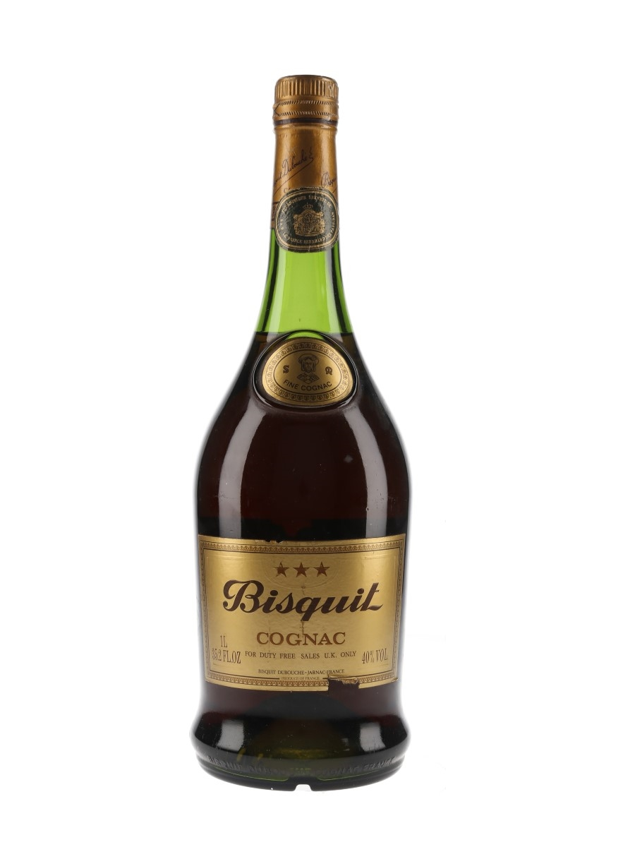 Bisquit 3 Star Bottled 1970s-1980s - Duty Free 100cl / 40%