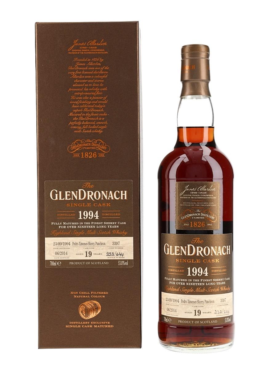 Glendronach 1994 19 Year Old Pedro Ximenez Puncheon Bottled 2014 70cl / 53.8%