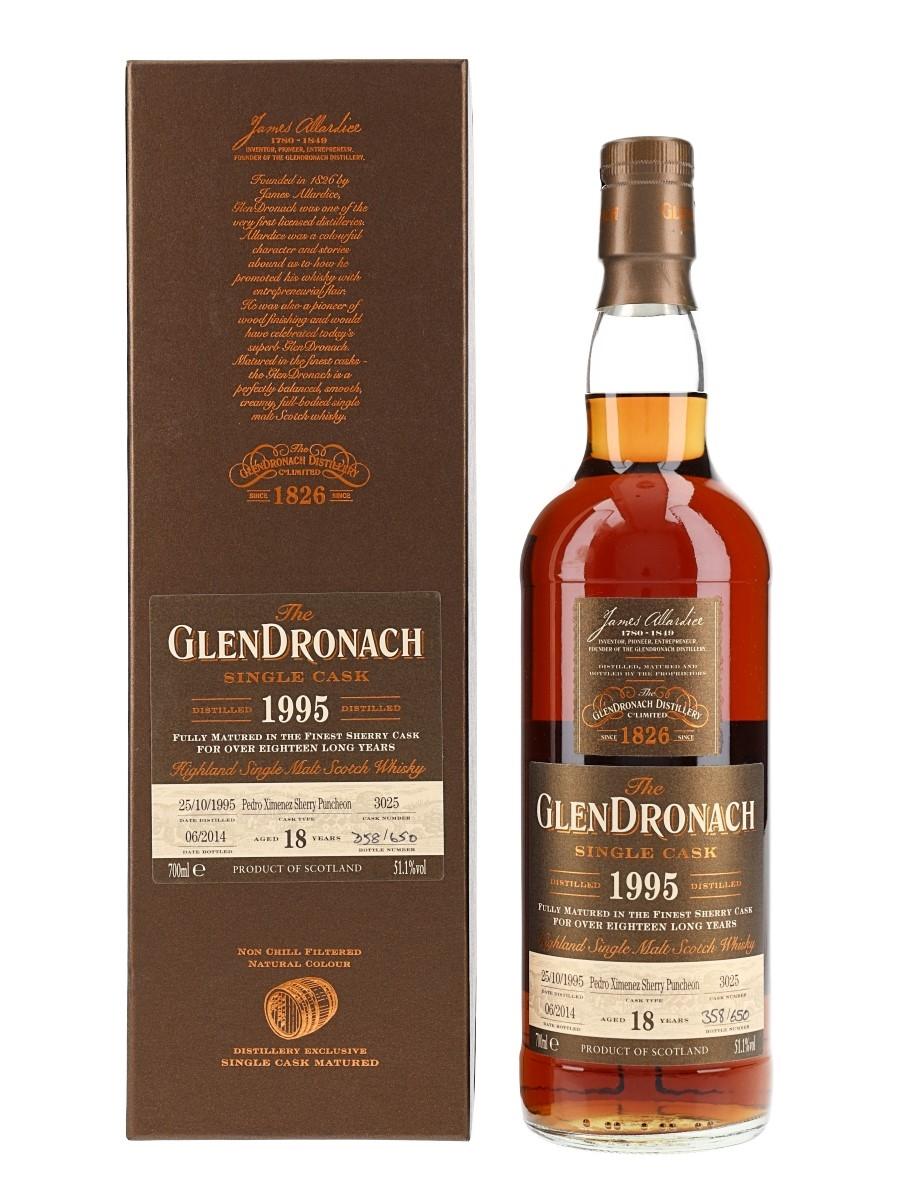 Glendronach 1995 18 Year Old Pedro Ximenez Puncheon Bottled 2014 70cl / 51.1%
