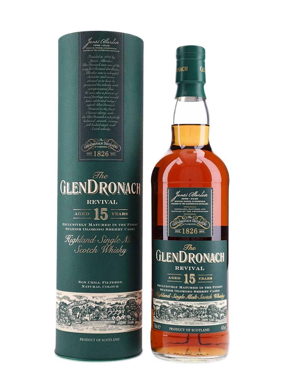 Glendronach 15 Year Old Revival Bottled 2015 70cl / 46%