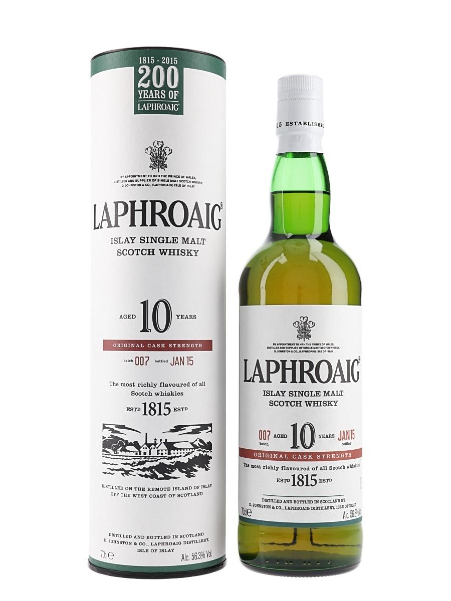 Laphroaig 10 Year Old Cask Strength Bottled 2015 - Batch 007 70cl / 56.3%