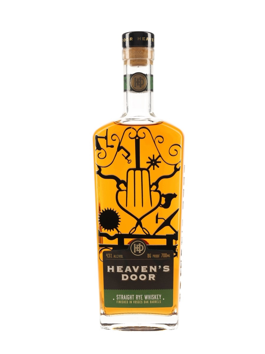 Heaven's Door Straight Rye Whiskey Bottled 2019 70cl / 43%