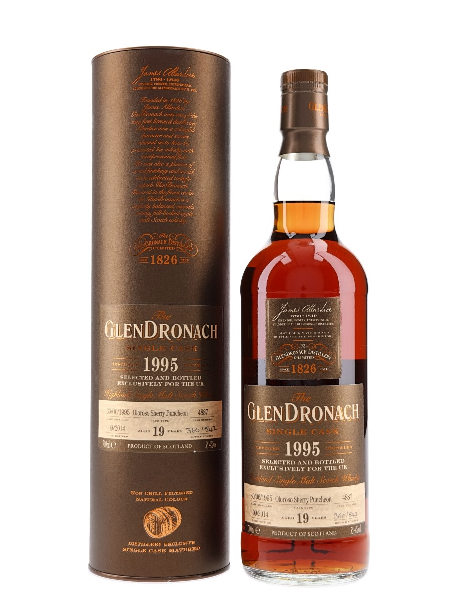 Glendronach 1995 19 Year Old Oloroso Puncheon Bottled 2014 70cl / 55.4%
