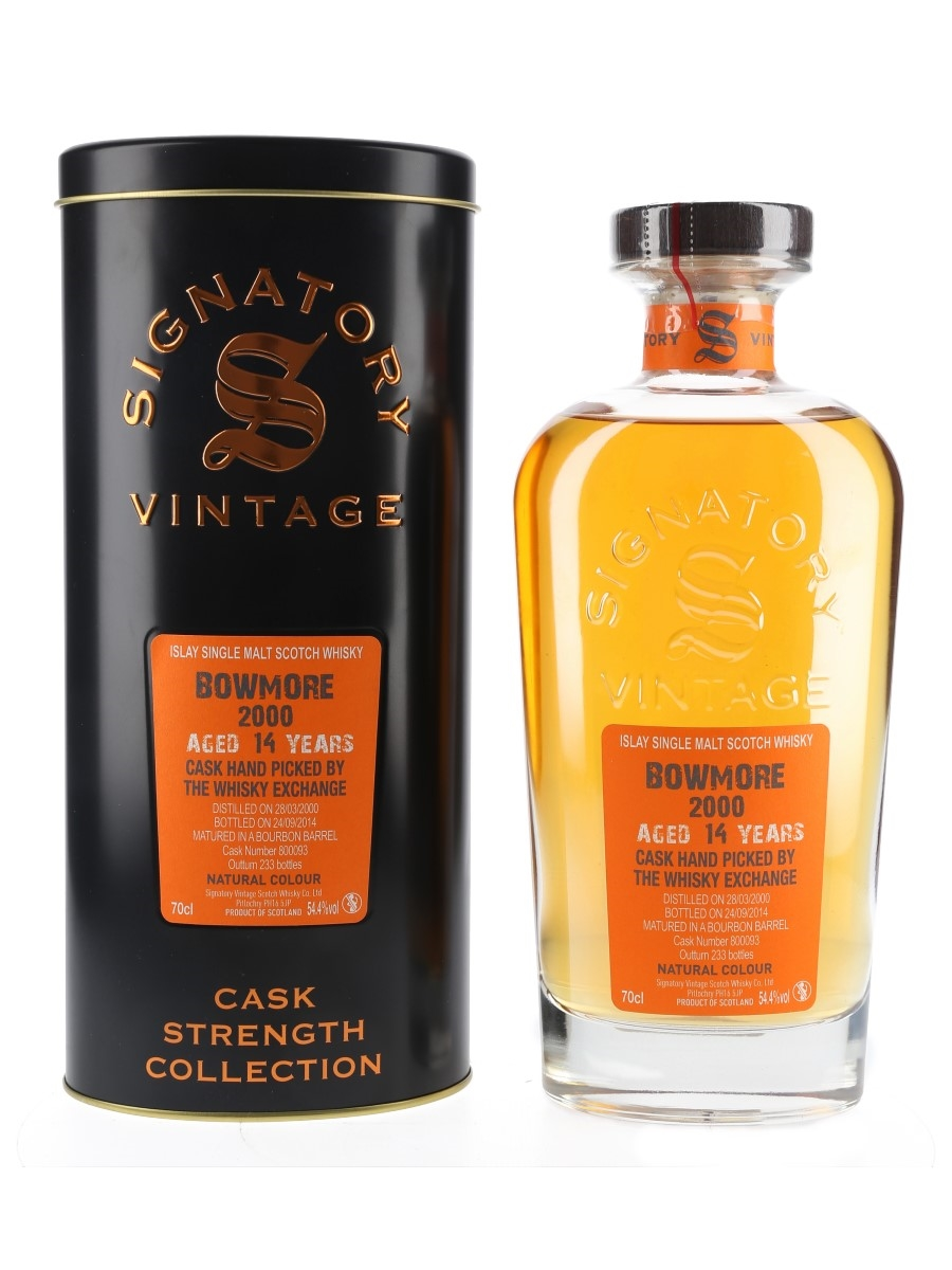 Bowmore 2000 14 Year Old Bottled 2014 - The Whisky Exchange 70cl / 54.4%