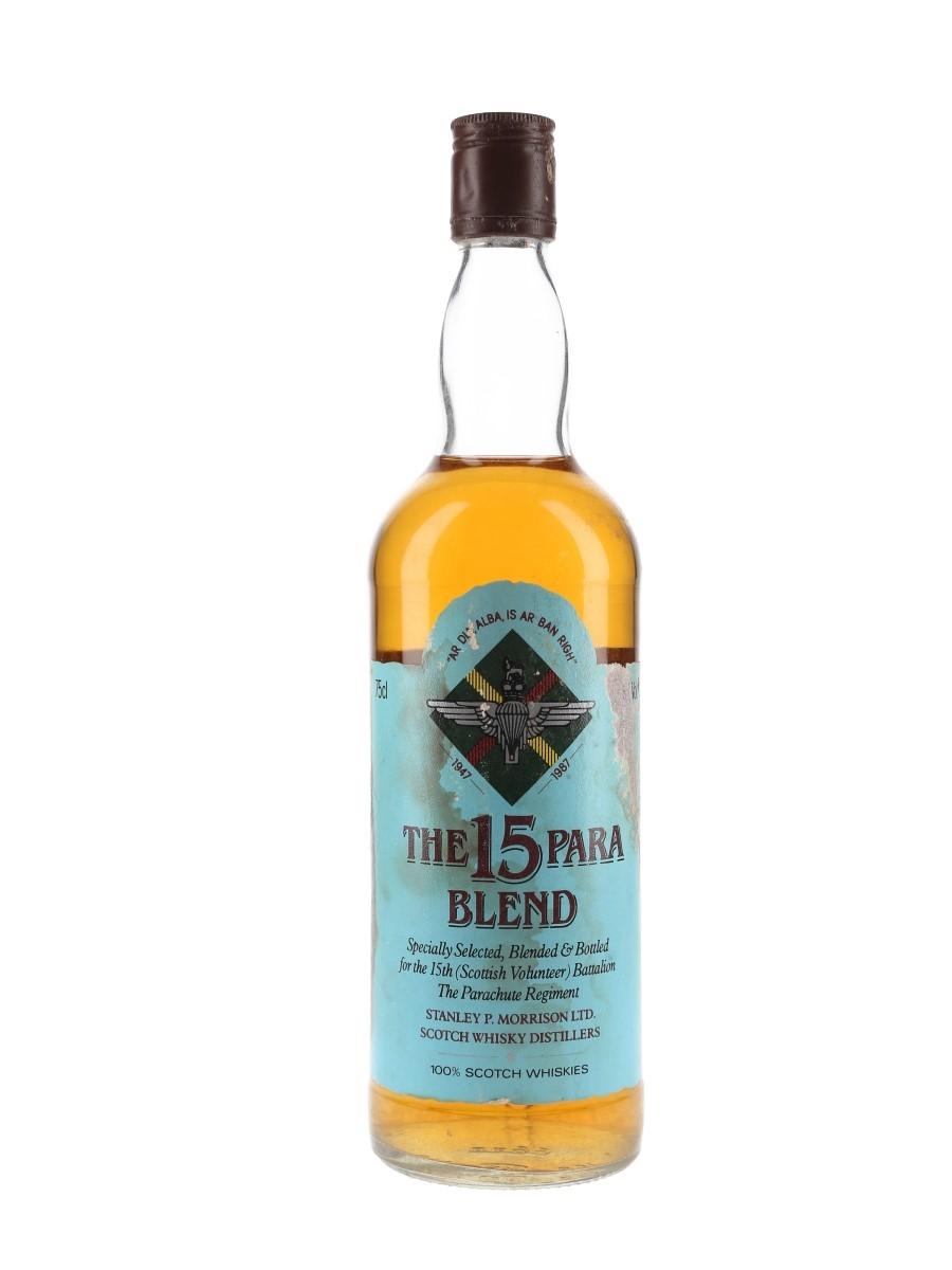 The 15 Para Blend Bottled 1980s - Stanley P Morrison 75cl / 40%