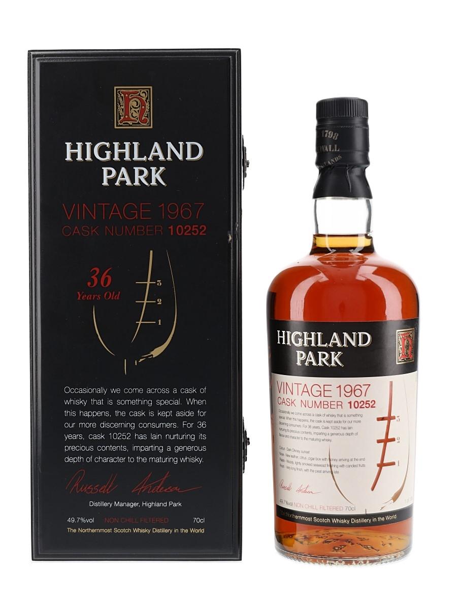 Highland Park 1967 36 Year Old Cask Number 10252 70cl / 49.7%