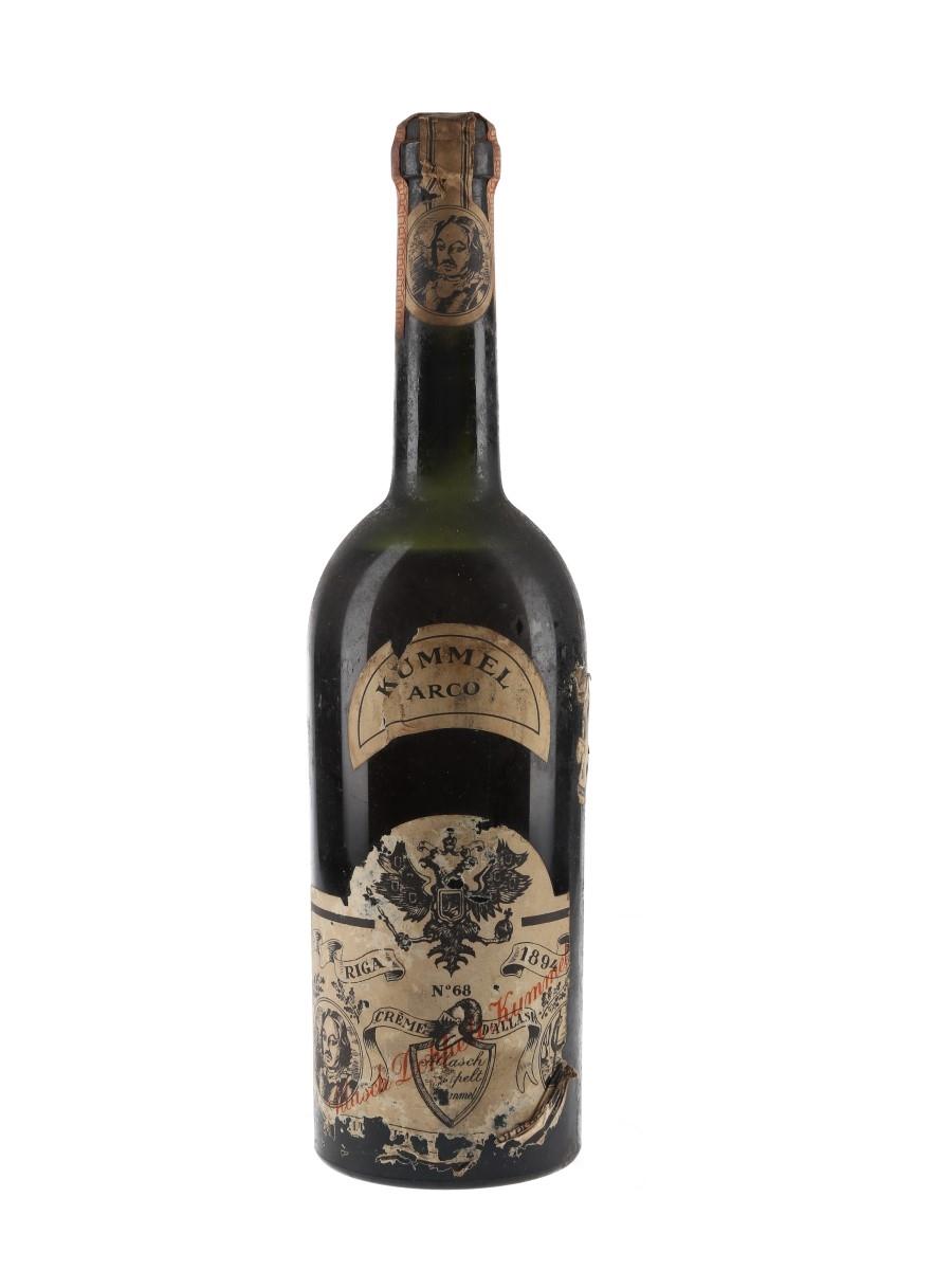 Allasch Doppelt Kummel Arco Bottled 1940s 70cl