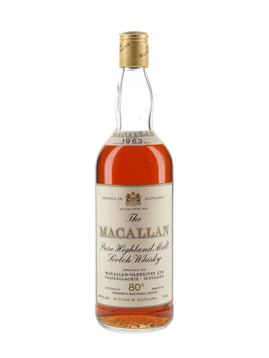 Macallan 1963 Bottled 1970s-1980s 75cl / 46%
