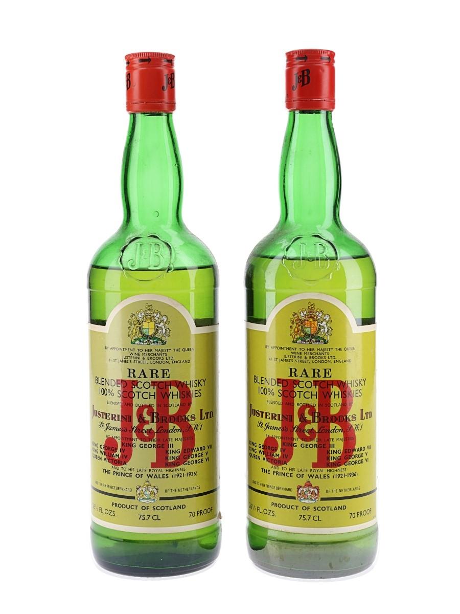 J & B Rare Bottled 1970s 2 x 75.7cl / 40%