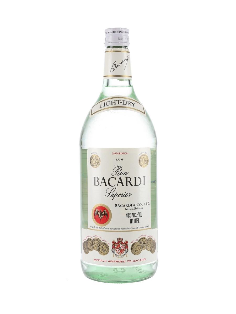 Bacardi Carta Blanca Bottled 1980s - Bahamas 114cl / 40%