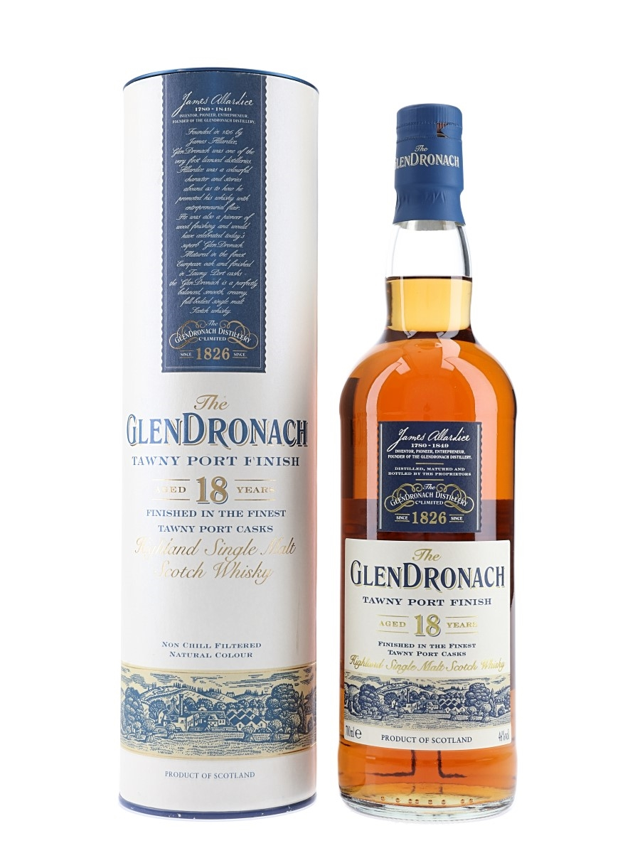 Glendronach 18 Year Old Tawny Port Finish Bottled 2014 70cl / 46%
