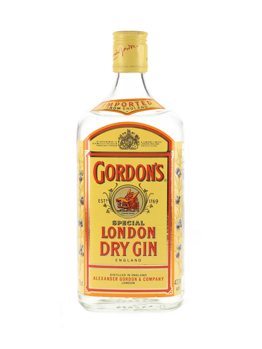 Gordon's London Dry Gin Bottled 1980s-1990s 75cl / 47.3%
