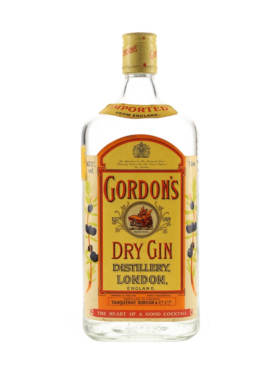 Gordon's Dry Gin Bottled 1980s - Ireland Duty Free 100cl / 47.3%