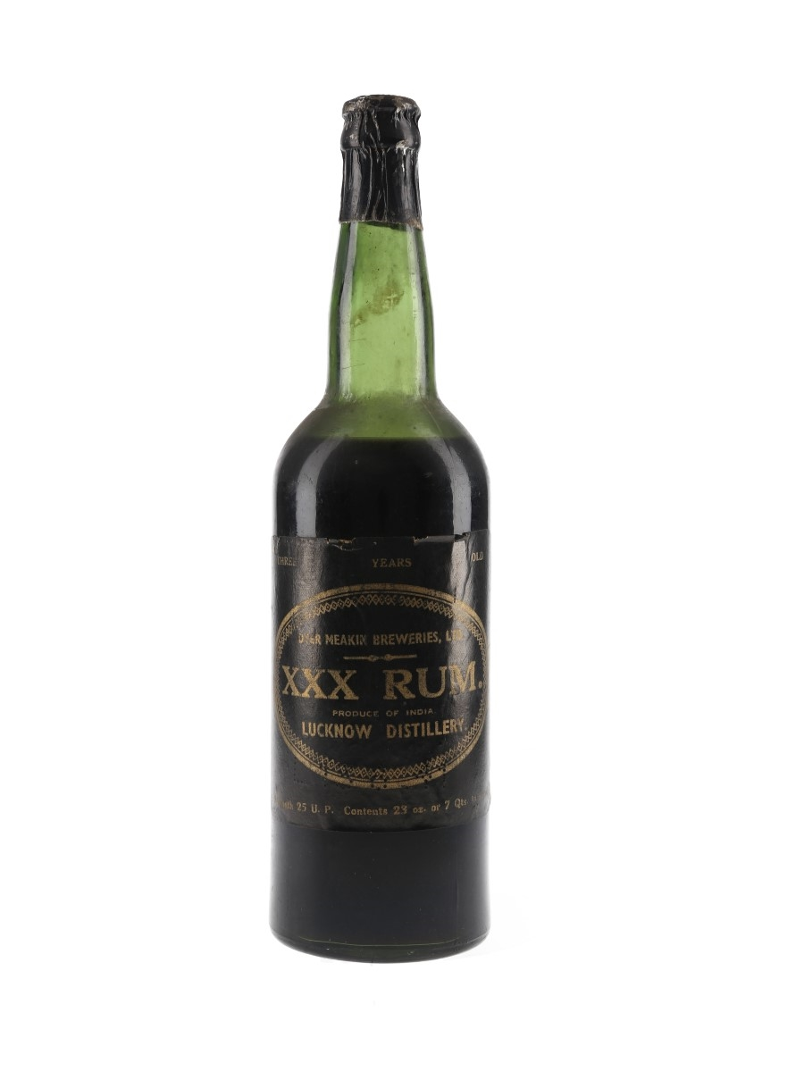 Dyer Meakin Breweries 3 Year Old XXX Rum Bottled 1950s - India 65.3cl / 42.8%