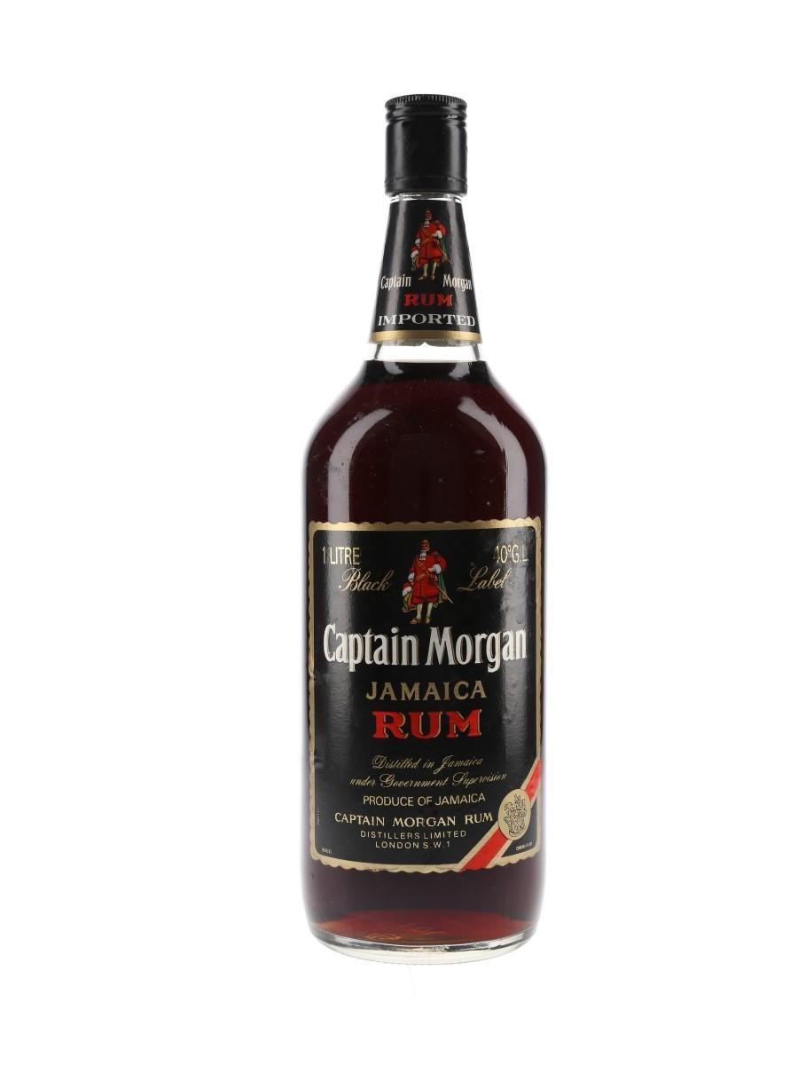 Captain Morgan Black Label Jamaica Rum Bottled 1980s 100cl / 40%