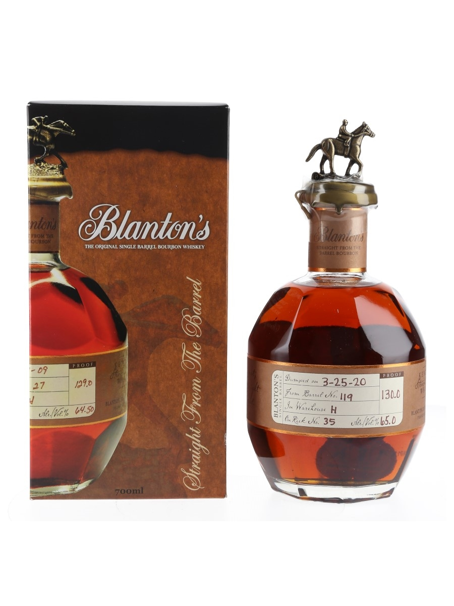 Blanton's Straight From The Barrel No. 119 Bottled 2020 70cl / 65%