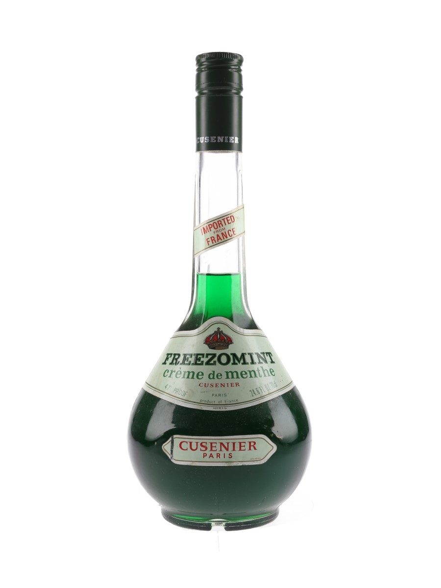 Cusenier Freezomint Creme De Menthe Bottled 1970s 70cl / 27%