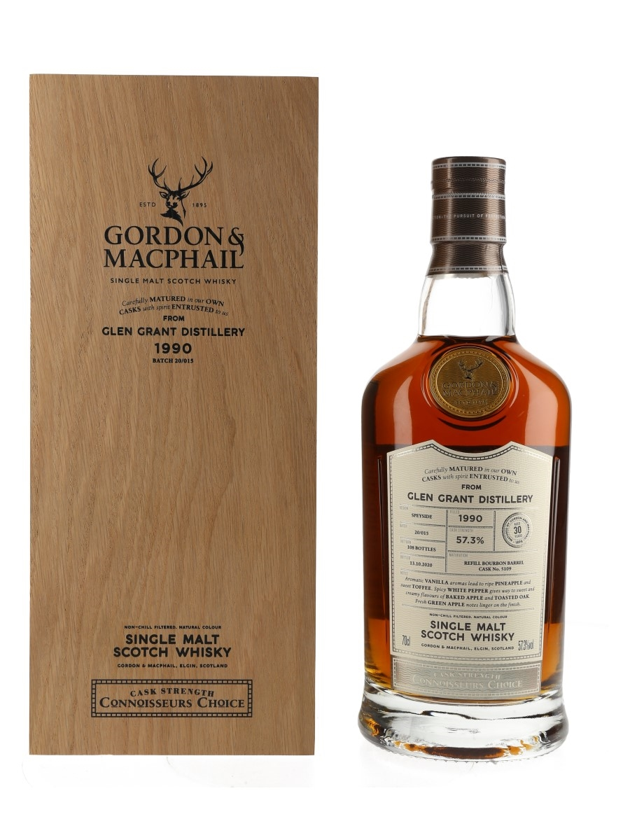 Glen Grant 1990 30 Year Old Connoisseurs Choice Bottled 2020 - Gordon & MacPhail 70cl / 57.3%