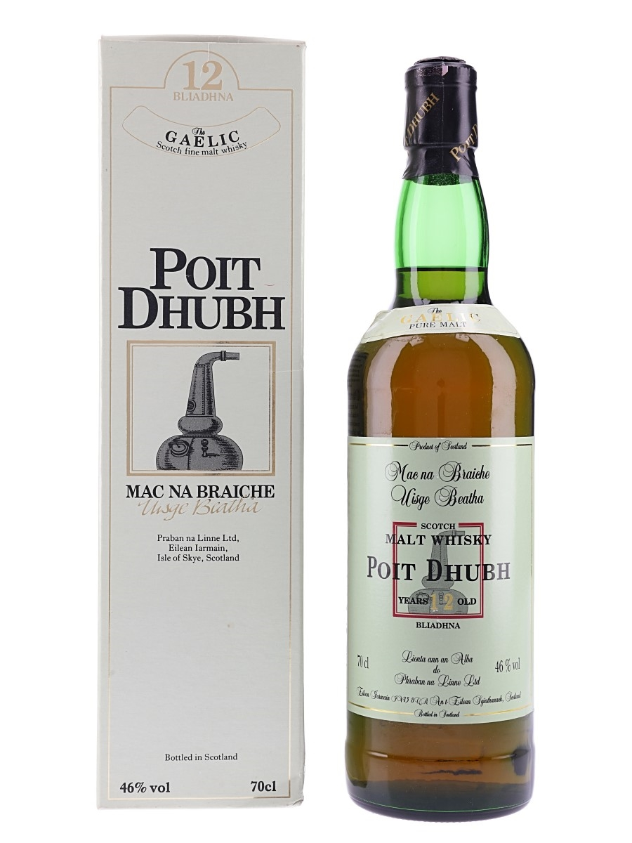Poit Dhubh 12 Year Old  70cl / 46%