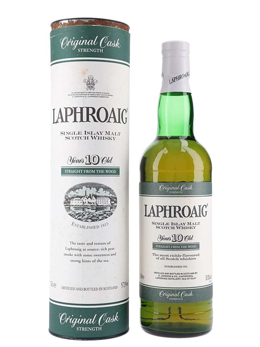 Laphroaig 10 Year Old Bottled 1990s - Straight From The Wood 70cl / 57.3%