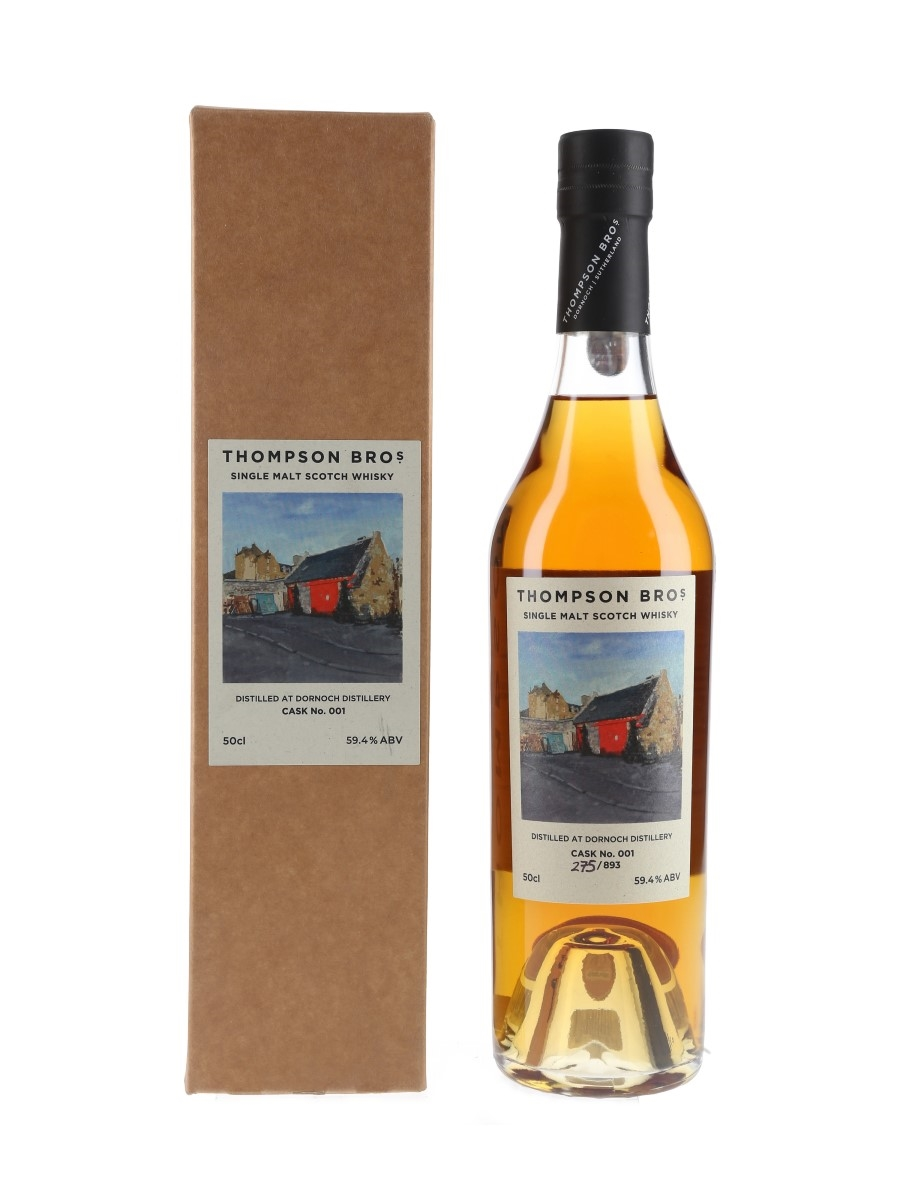Dornoch Distillery 2017 Cask No. 1 Bottled 2020 - Thompson Bros. 50cl / 59.4%